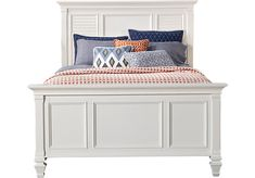 picture of Belmar White 3 Pc Queen Panel Bed  from Beds Furniture