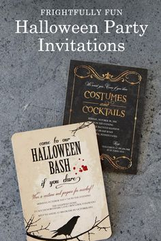 Throw a Halloween party so fun, it's scary! Shop frightfully fun Halloween party invitations that are sure to get the party started.