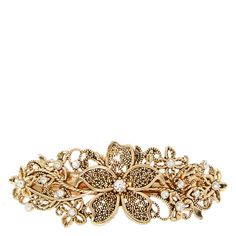 Filigree Gold Flower Hair Clip