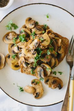 Mustardy mushrooms on toast from My Darling Lemon Thyme