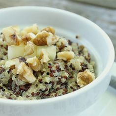 A delicious alternative to oatmeal, quinoa makes a delicious breakfast when paired with bananas and real maple syrup. Perfect for a cool fall morning.