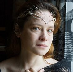 Tiara is made of silverplated copper wire. It is easily manipulated to any shape or size of head. The circlet has an extender chain and clasp at the back.  Elven ears on the picture you can find here: https://www.etsy.com/listing/488801621/elven-ears-a-pair-earcuffs-elf-ears?ref=related-3