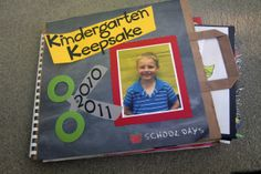 Live, Love, Laugh Everyday in Kindergarten: Portfolio/Memory Books LINKY PARTY! End Of School Year, Beginning Of School, Pre School, School Fun, Kindergarten Graduation, Kindergarten Classroom, Kindergarten Memory Books, Preschool Memory Book, Homeschool Kindergarten