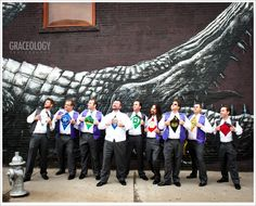 The coolest groomsmen photo we have ever photographed...Superheroes!