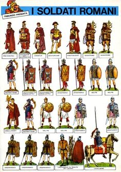 Soldiers of Rome Ancient Rome, Ancient Art, Ancient History, Military Art, Military History, Rome Antique, Roman Warriors, Roman Legion, Greek Warrior