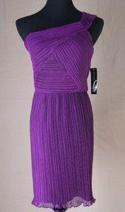 "Nine West A New Spin""Purple Heather"" Cocktail Chiffon Dress Size 12 Retail $ 149 | eBay"