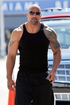 "Dwayne Johnson Photo - Dwayne ""The Rock"" Johnson on the set of ""Pain and Gain"""