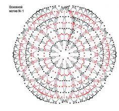 Топ из шестиугольных мотивов/ Для вязания топа 46-го размера потребовалось 350 гр пряжи мерсеризованного хлопка, крючок № 3,5. Вместо выкройки можно использовать носимый топ и раскладывать на нем мотивы.   Ширина готового мотива после проглаживания 15 см по боковым сторонам. Если нужно связать больше или меньше мотив используйте крючок с большим или меньшим номером. Свяжите 17 полных мотивов и 3 полумотива по схеме.