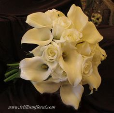 White Roses and Calla Lily Bouquet