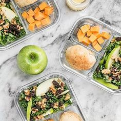 ICYMI (since I forgot to post it here) this week's meal prep is an awesome Apple Dijon Kale Salad, Focaccia Rolls, and some cubed cheddar! I had a super busy day running around yesterday, so I actually ate one of these for lunch and another for dinner! ☺️ Tap the link in my profile to go to the recipe 👉 @budgetbytes . . #mealprep #mealprepideas #mealprepsunday #mealprepping #mealpreplife #mealprepandchill #mealprepmadeeasy #mealpreppin #mealprepday #mealpreps…