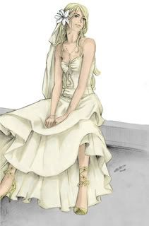 This wedding dress was worn by fleur delacour at her wedding to bill weasley on august the dress is described as a rather lavish black and white ornate dress. Description from bamrobot.com. I searched for this on bing.com/images