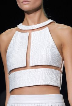 it's wonderful how that crop top in white stays together... brilliant design