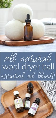 Need a natural substitute to dryer sheets? Learn how to make your own wool dryer ball blends that help dry your clothes faster and smell better. Homemade Cleaning Products, Cleaning Recipes, Natural Cleaning Products, Cleaning Hacks, Cleaning Solutions, Cleaning Supplies, Lifehacks, Essential Oil Blends, Essential Oils
