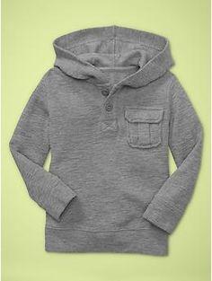 Textural pocket hoodie | Gap
