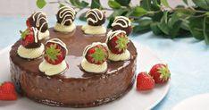 Japansk ostekake med 3 ingredienser Mousse, Cheesecake, Food And Drink, Baking, Desserts, Cover, Caramel, Tailgate Desserts, Deserts