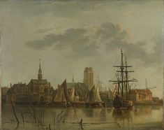 View of Dordrecht at Sunset, copy after Aelbert Cuyp, 1700 - 1799