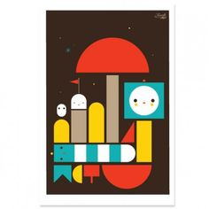 """Dream Boat by FriendsWithYou. Archival Print on Canson 310 gsm Rag Photographique Paper. 26 x 36"""". Edition of 75."""
