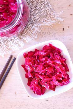 Red Cabbage Sauerkraut - Low FODMAP