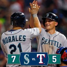 Four home runs pace the #Mariners to a 7-5 victory over the #Rangers. 9/5/14