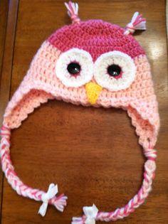 Handmade owl hat Toddler/Preschool by Rubyscupcakecrochet on Etsy