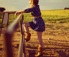 summer dresses and cowboy boots