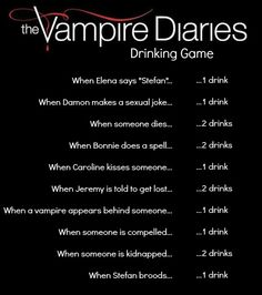 vampire diaries drinking game
