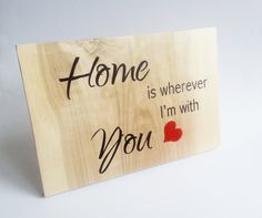 Wedding board sign standing Home is wherever I'm by MKedraWedding
