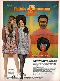 1970 teen magazine rca records fashion promo with 'the friends of distinction'