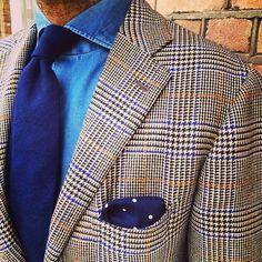 danielmeul:  #ootd #jacket #cesareattolini #Scottish cashmere#glencheck#shirt #finamore1925 #vintage denim#tie and pocket square#Violamilano # #luxury #tailoring #menswear #