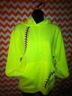 Hey, I found this really awesome Etsy listing at http://www.etsy.com/listing/126486070/softball-hoody