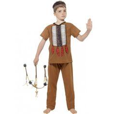 Disfraz de Indio Marrón Claro para Niño