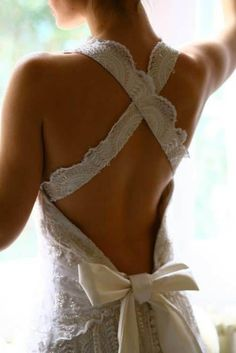 My wedding dress will look like this! I determined. My wedding dress will look like this! I determined. My wedding dress will look like this! I determined. Open Back Wedding Dress, Backless Wedding, Wedding Gowns, Lace Wedding, Bridal Gown, Ribbon Wedding, Wedding Venues, Rustic Wedding, Whimsical Wedding