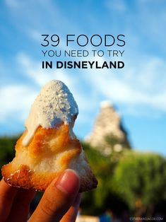 39 Foods You Must Try / Disneyland Food Bucket List