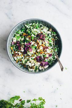 ilseboersma | Cauliflower, green peas & herbs #recipe #healthy #food