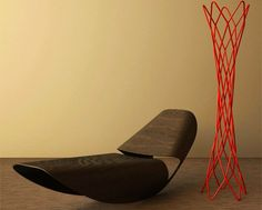 Cowrie Rocker, a rocking chair made by London based designer Brodie Neill