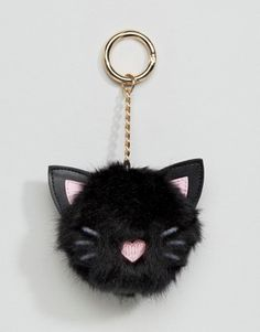 Browse online for the newest ASOS Oversized Cat Pom Bag Charm Keychain styles. Shop easier with ASOS' multiple payments and return options (Ts&Cs apply). Halloween Fashion, Cute Halloween, Crazy Cat Lady, Crazy Cats, Cute Keychain, Keychains, Pom Pom Crafts, Cat Bag, Girls Bags
