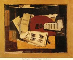 Georges Braque. Guitar and Sheet Music. c.1919. Oil on canvas. 72 x 93 cm Private collection Olga's Gallery.