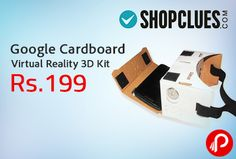 Shopclues is offering Google Cardboard Virtual Reality 3D Kit (Do-It-Yourself) at Rs.199. This Do-It-Yourself Cardboard Virtual Reality Kit is made from laminated corrugated cardboard and can be assembled in less than 5 minutes, making it the best value for money virtual reality viewer. It can be used with almost all the mobile phones running Android 4.1 and above. In the package,   http://www.paisebachaoindia.com/google-cardboard-virtual-reality-3d-kit-at-rs-199-shopclues/