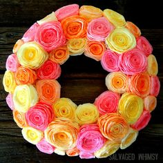 Coffee filter wreath!