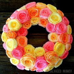 Coffee filter wreath!
