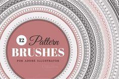 Pattern Brushes for Illustrator - Brushes
