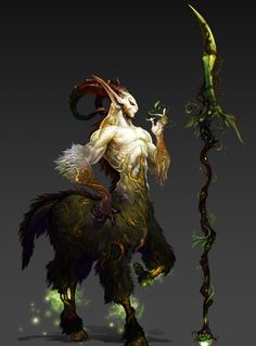 More nature designed centaur, could be a jungler to fit with the design, weapon…