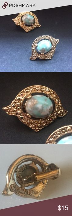 Vintage Sarah Coventry Clip Earrings Turquoise Vintage Sarah Coventry Clip Earrings Turquoise Sarah Coventry Jewelry Earrings