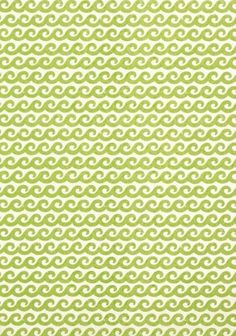 Shore Thing #wallpaper and coordinating #fabric in Green from the #Resort collection by #Thibaut