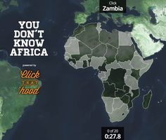 You Don't Know Africa Map interactive game