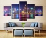 Dallas Large Canvas Print, Dallas skyline Wall Decor, Dallas Painting, Dallas city view Canvas Art