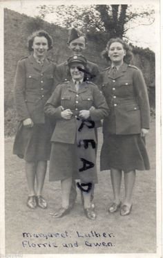 Group of ladies serving with ATS Auxiliary Territorial Service & RAF ?