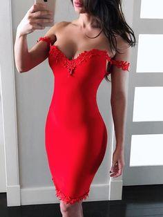 Sweetheart Contrast Lace Sheath Dress