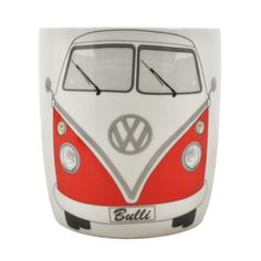 Genuine VW Red Mini Bus Mug - The VW Bus remains a cult symbol of originality, evolution, and independence. - This mug made out of new Bone China is sure to show off your VW pride. - 400ml. - Comes ni