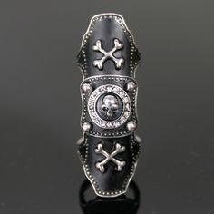 Full Finger Joint Armor Skull Knuckle Ring